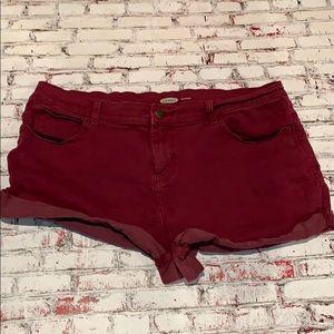 Burgundy Old Navy Shorts